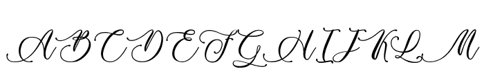 Billion Calligraphy - Personal Use Font UPPERCASE