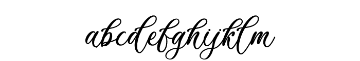 Billion Calligraphy - Personal Use Font LOWERCASE