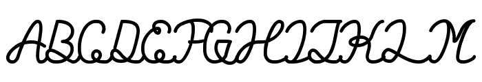 Billy Jean Style Bold Font UPPERCASE