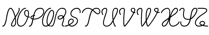 Billy Jean Style Font UPPERCASE