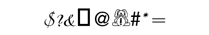 BillyBear EasterFont Font OTHER CHARS