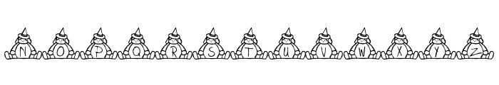 BillyBear Halloween Font UPPERCASE