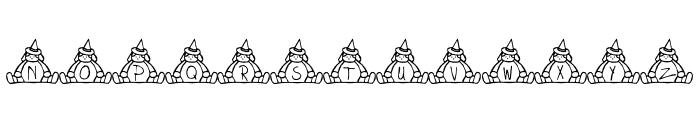 BillyBear Halloween Font LOWERCASE