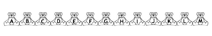 BillyBear TeddyBear Font UPPERCASE
