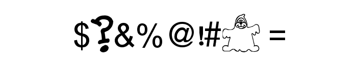 BillyBears FriendlyGhost Font OTHER CHARS