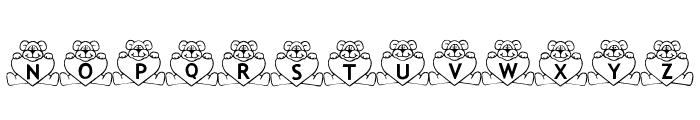 BillyBears LoveNotes Font UPPERCASE