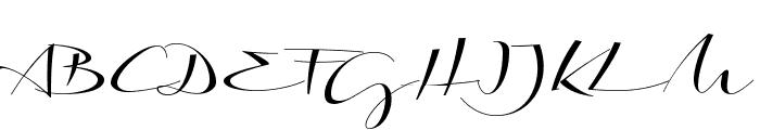 Biloxi Calligraphy Demo Font UPPERCASE