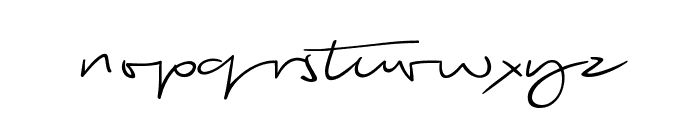 Biloxi Script Font LOWERCASE