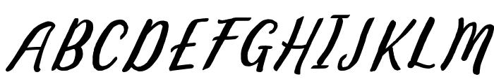 Bintar Italic Font UPPERCASE