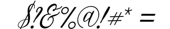 Bintari Italic Font OTHER CHARS
