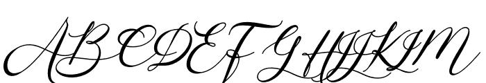 Bintari Italic Font UPPERCASE