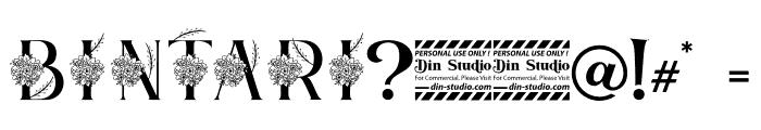 Bintari Personal Use Font OTHER CHARS