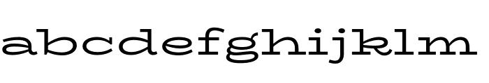 BioRhyme Expanded Regular Font LOWERCASE