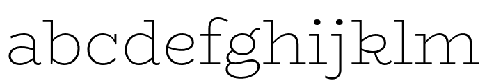 BioRhyme-ExtraLight Font LOWERCASE