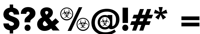 Biohazard Participants Font OTHER CHARS
