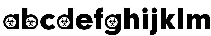 Biohazard Participants Font LOWERCASE
