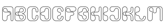 Biological-Hollow Font UPPERCASE