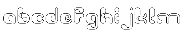 Biological-Hollow Font LOWERCASE