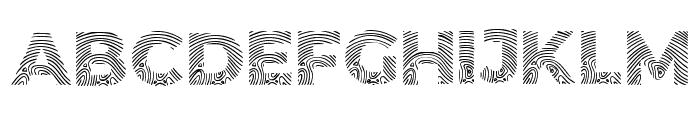 Biometro_gothic Regular Font UPPERCASE