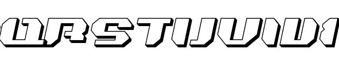 Bionic Kid Slanted 3d Font UPPERCASE