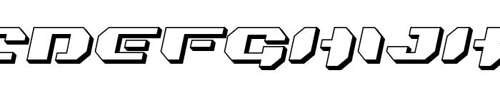 Bionic Kid Slanted 3d Font LOWERCASE