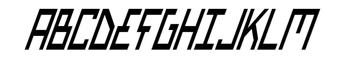 Bionic Type Cond Italic Font UPPERCASE