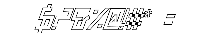 Bionic Type Out Italic Font OTHER CHARS