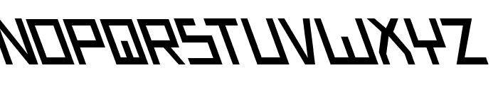 Bionic Type Slant Font UPPERCASE