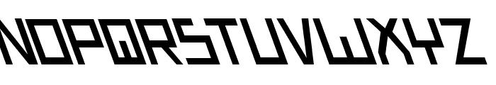 Bionic Type Slant Font LOWERCASE