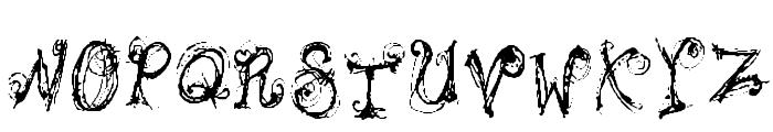 Bipolar Braden Font UPPERCASE