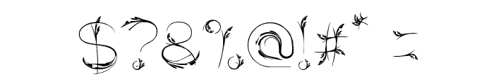 Bird Feather Font OTHER CHARS