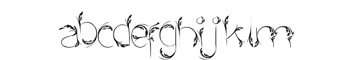 Bird Feather Font LOWERCASE