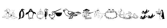 BirdArt Font UPPERCASE