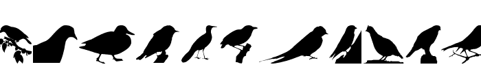 Birds TFB Font UPPERCASE