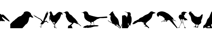 Birds TFB Font LOWERCASE