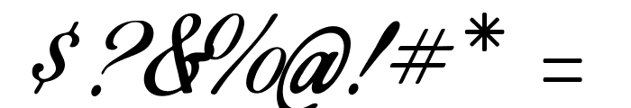 Birds of Paradise - Personal use Only Font OTHER CHARS
