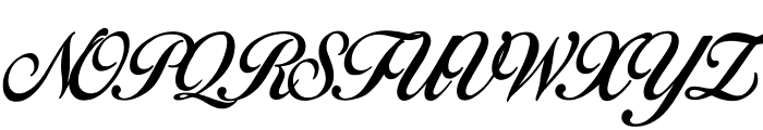 Birds of Paradise - Personal use Only Font UPPERCASE