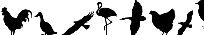 Birds of a Feather Font LOWERCASE