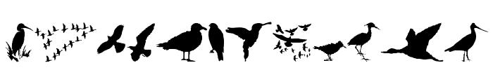 BirdsAndFriends Font LOWERCASE