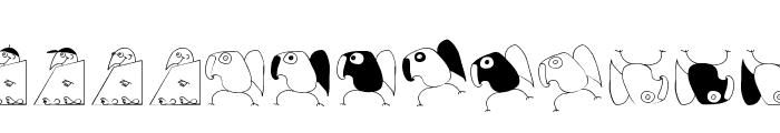 BirdsAndOtherBeings Font UPPERCASE