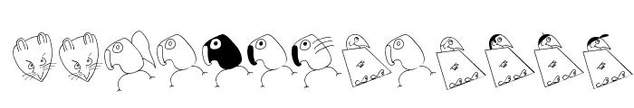 BirdsAndOtherBeings Font LOWERCASE