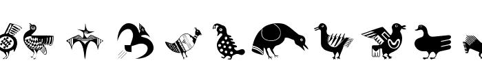 BirdsEleven Font UPPERCASE