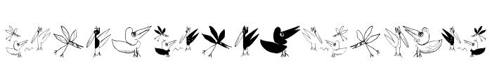 BirdsEtcetera Font UPPERCASE