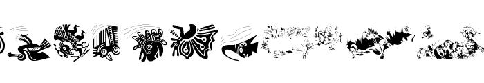 BirdsInfluenced Font LOWERCASE