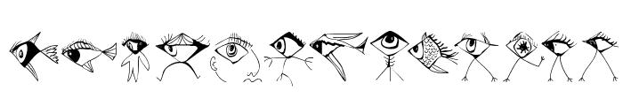 BirdsNFishes Font UPPERCASE