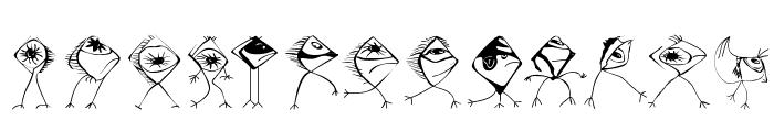 BirdsNFishes Font LOWERCASE