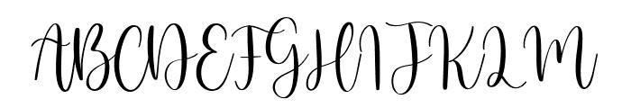 Birdside Font UPPERCASE