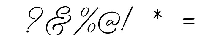 BirminghamScriptDEMO Font OTHER CHARS