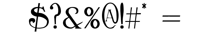 BirminghamTitling Font OTHER CHARS