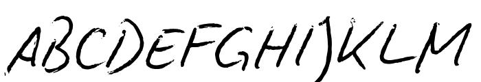 Biro Script Font UPPERCASE